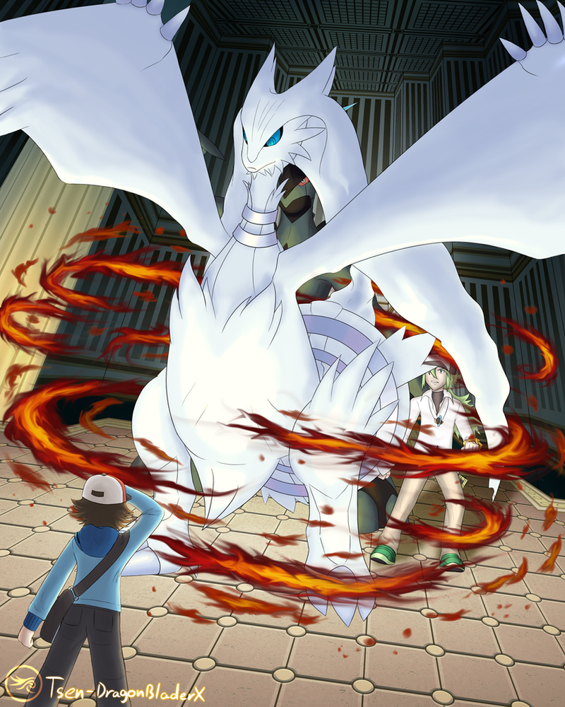 Pkmn Black - Reshiram Appears by DragonBladerX