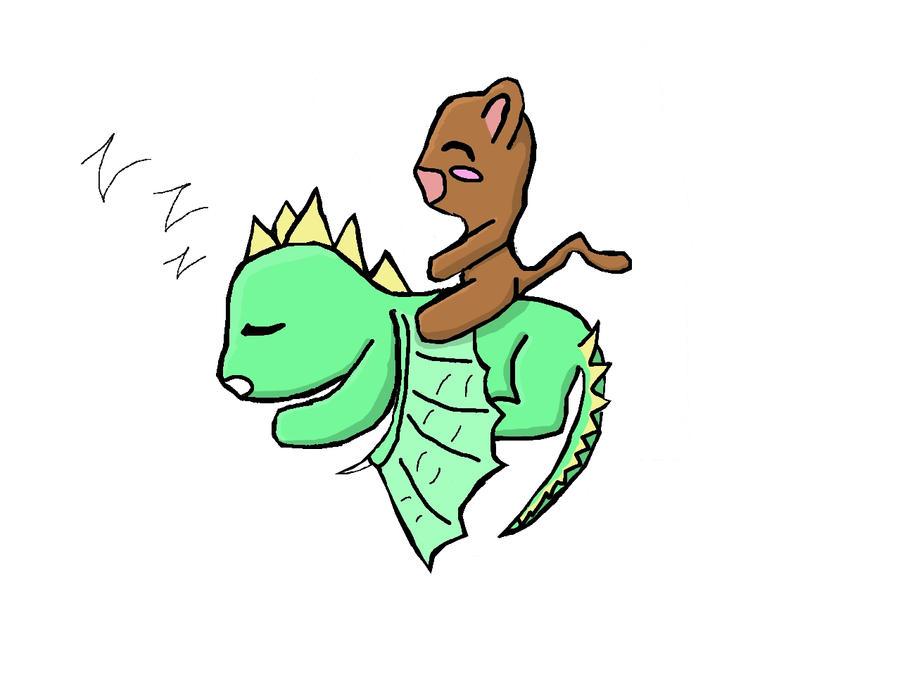monkey riding a dragon colored by yuzubunni on deviantart