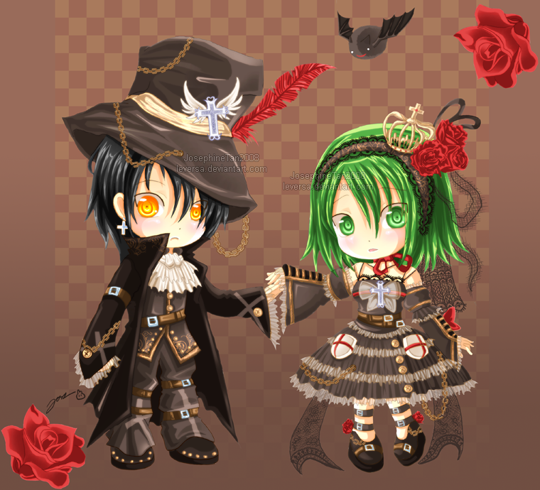 Lein and Reyna: Gothic Lolita by Leversa