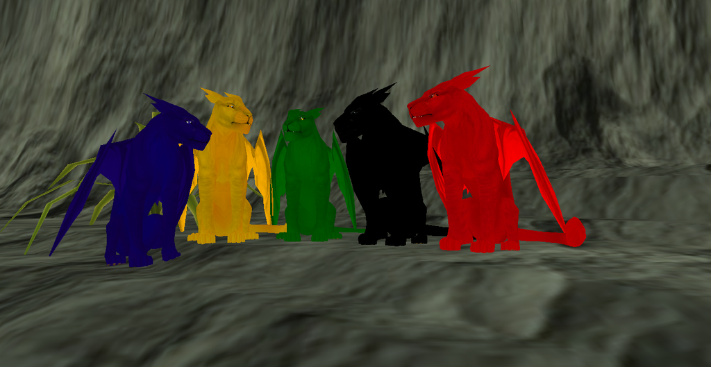 Saphira, Glaedr, Firnen, Shruikan, and Thorn by DarknessLyfe on ...