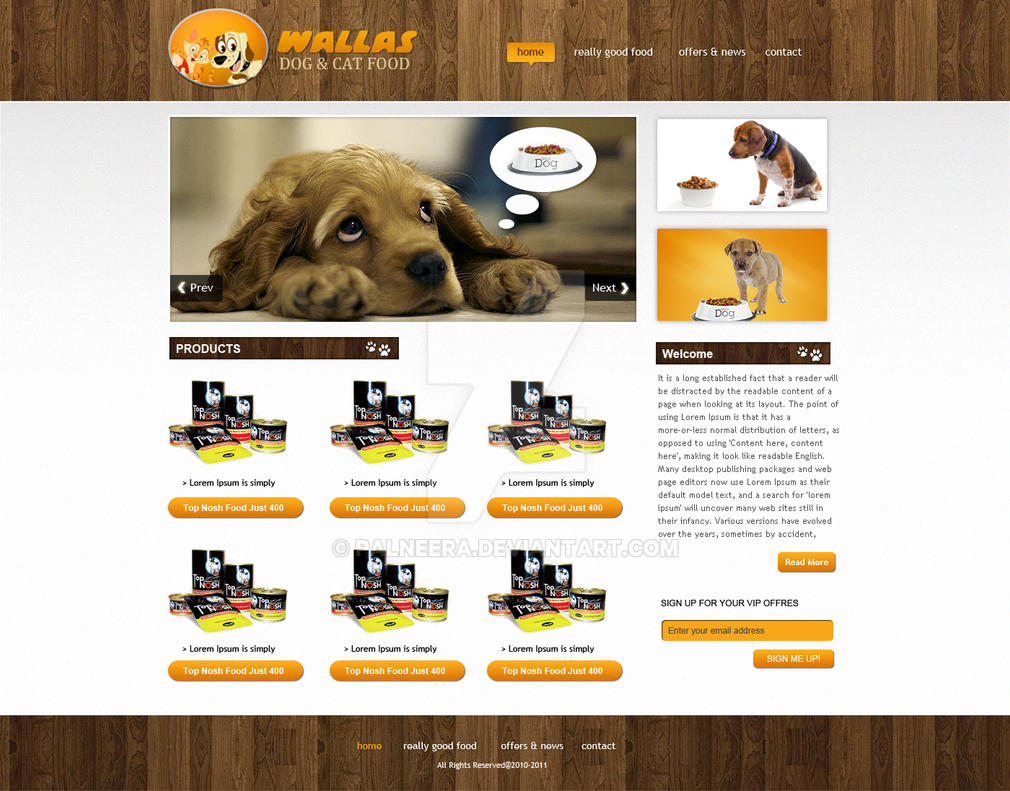 Wallas Dog Food E-shop V2 by palneera