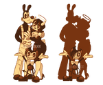 Pixel Bendy and The Ink Machine Trio