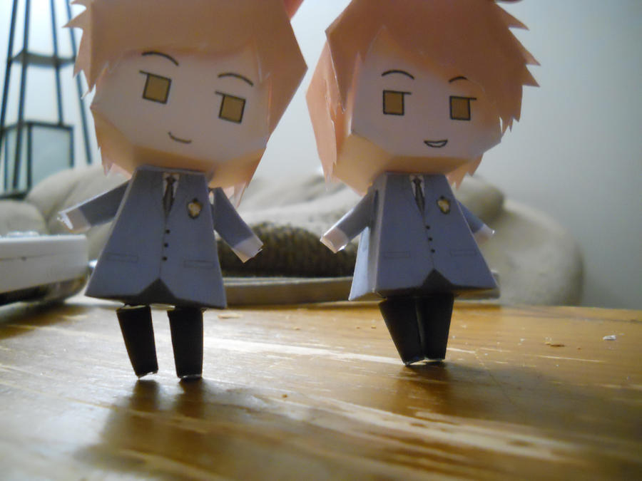 The Twins Papercraft by alexis925