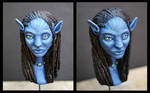 Neytiri's bust painted 2