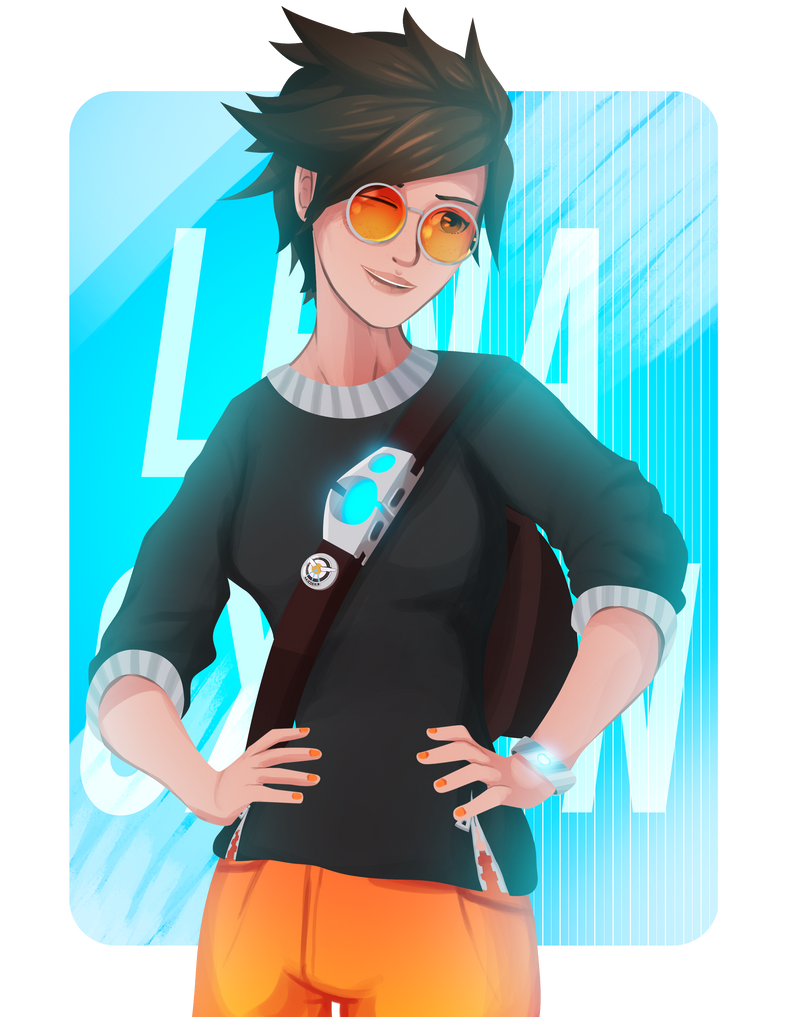 Lena Oxton - Tracer by Ravenide