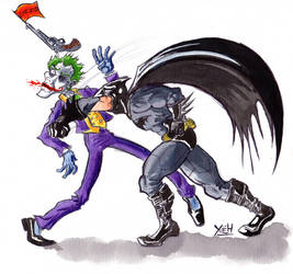 Batman Vs The Joker by yoeh