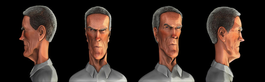 Clint Eastwood Zbrush caricature