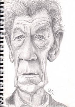 Ian McKellen Caricature