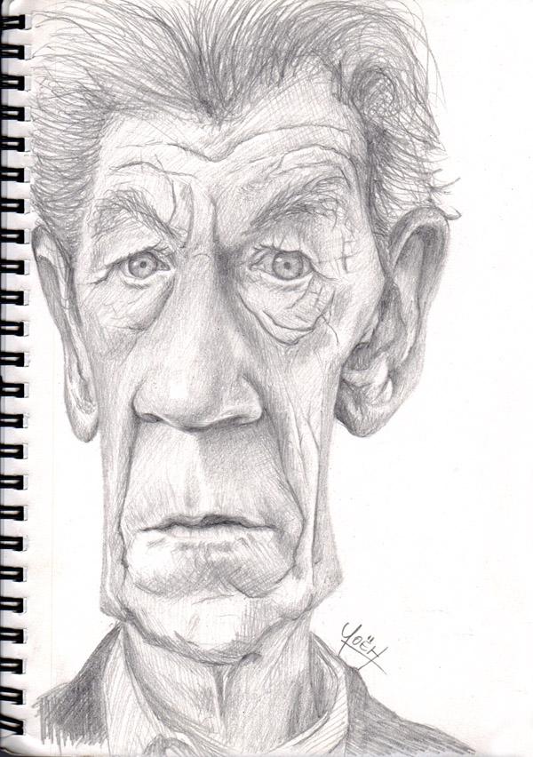 Ian McKellen Caricature by yoeh