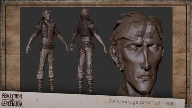Perception - Main character 3D sculpt