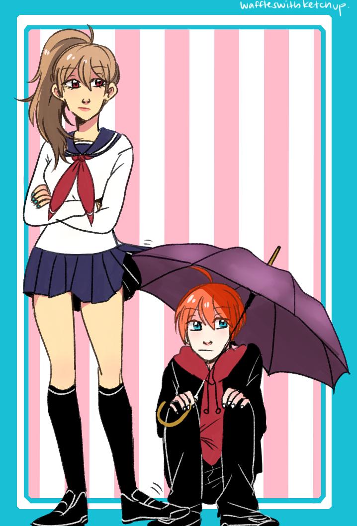 Souko and Gura by streaksketcher