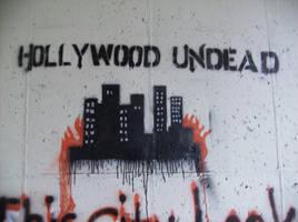 Hollywood Undead burning by Wolfriderxangel