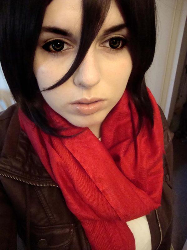 Mikasa Ackerman - Makeup Test by damselle-xoMikasa Ackerman Cosplay Makeup
