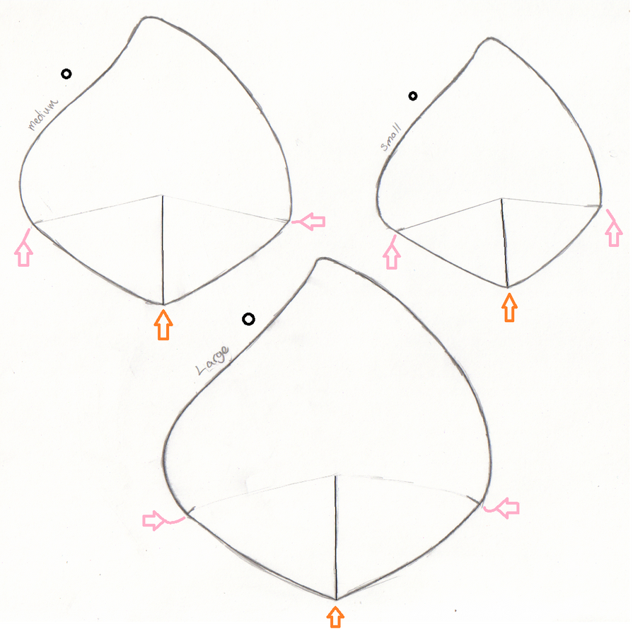 Paper craft ears by dark amy rose on deviantart for Template for pig ears