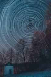 Hut under the stars