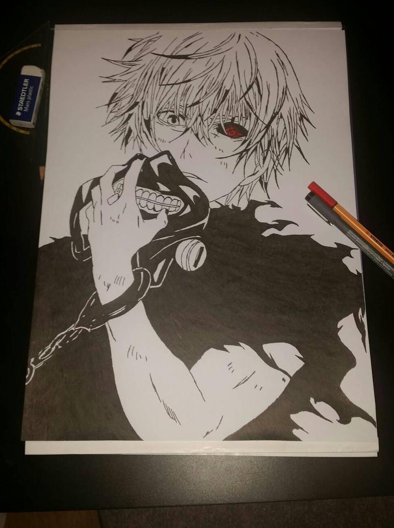 Kaneki Ken - Tokyo Ghoul by xIKaINeekii