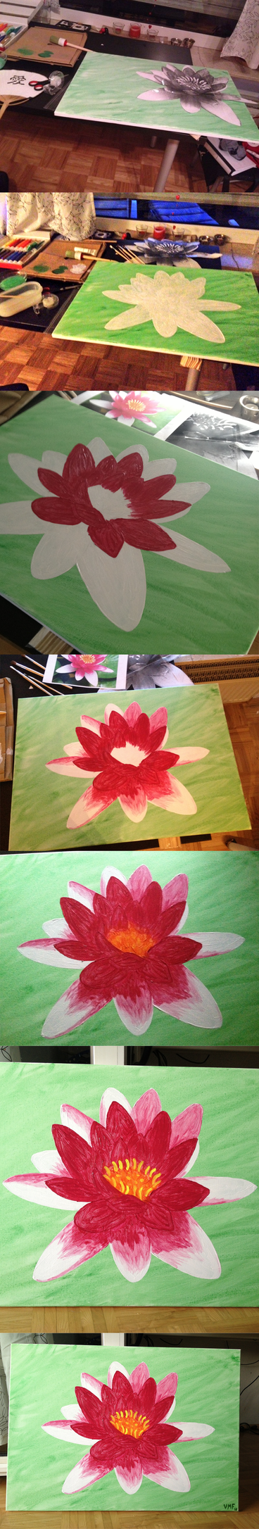Lotus - the way to the finished piece by Kiffy25081987