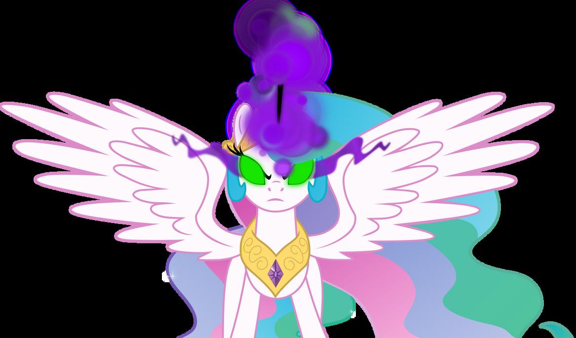 Princess Celestia (black magic) Vector by Kramze