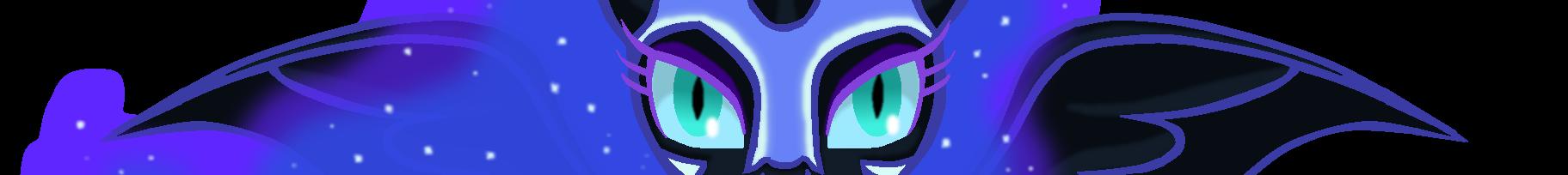 MLP eyebars Nightmare moon by PikeInverse