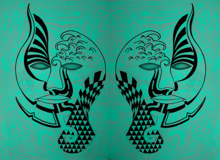 psychedelic tribal face by dalesargeant92 on deviantart