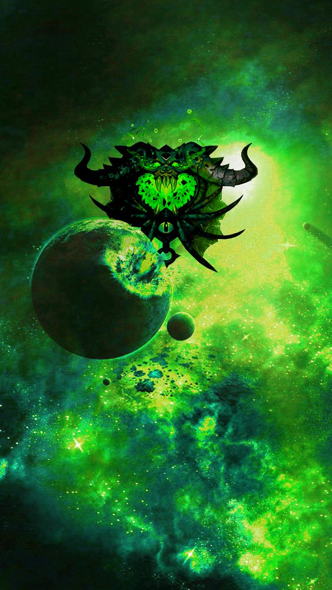 warlock wallpaper green hdenimonemo on deviantart