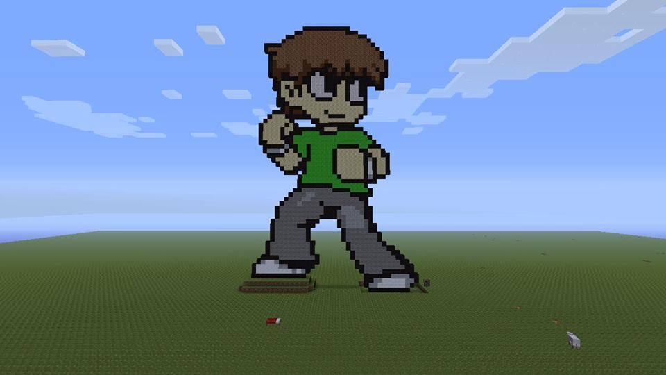 More scott pilgrim pixel art fun by scoobsterinc