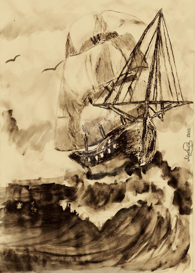Medieval ship by Jantaria
