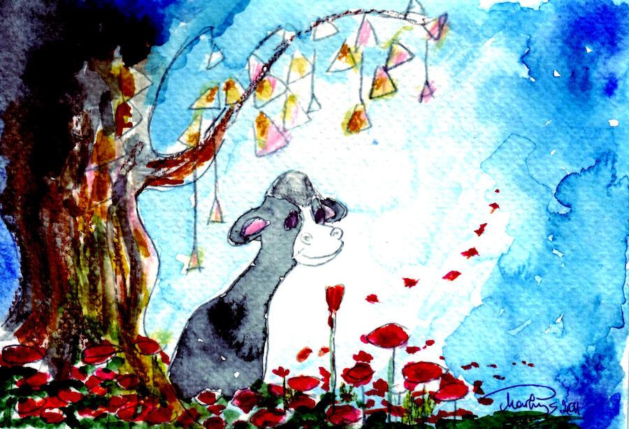 Watching the petals by Jantaria