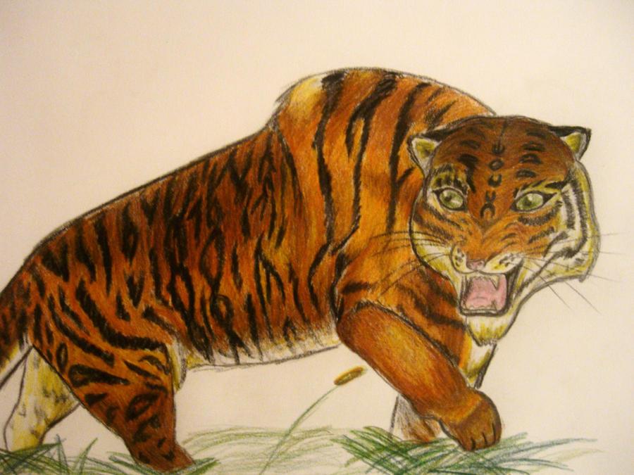 Tiger with gigantism by CraftyNess on DeviantArt  Gigantism In Animals