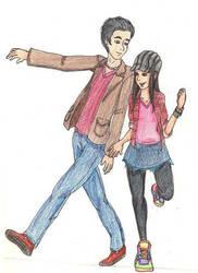 Shuffling Couple by Aira09