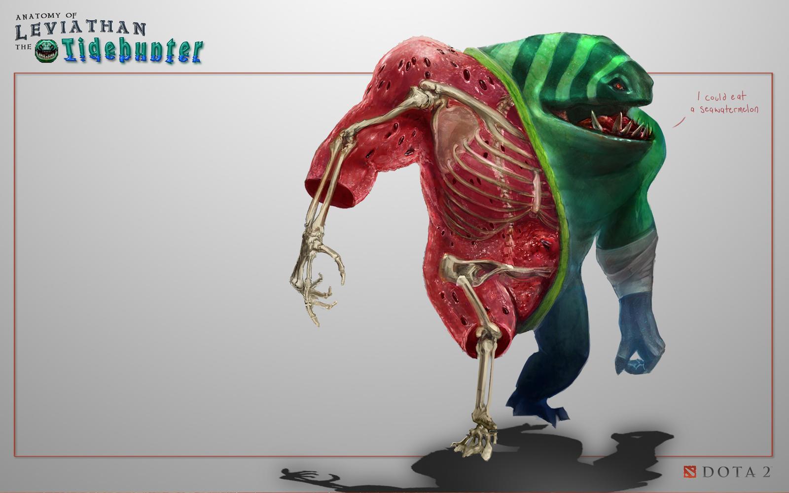 Tidehunter - just like a watermelon but fleshy by RedPaints