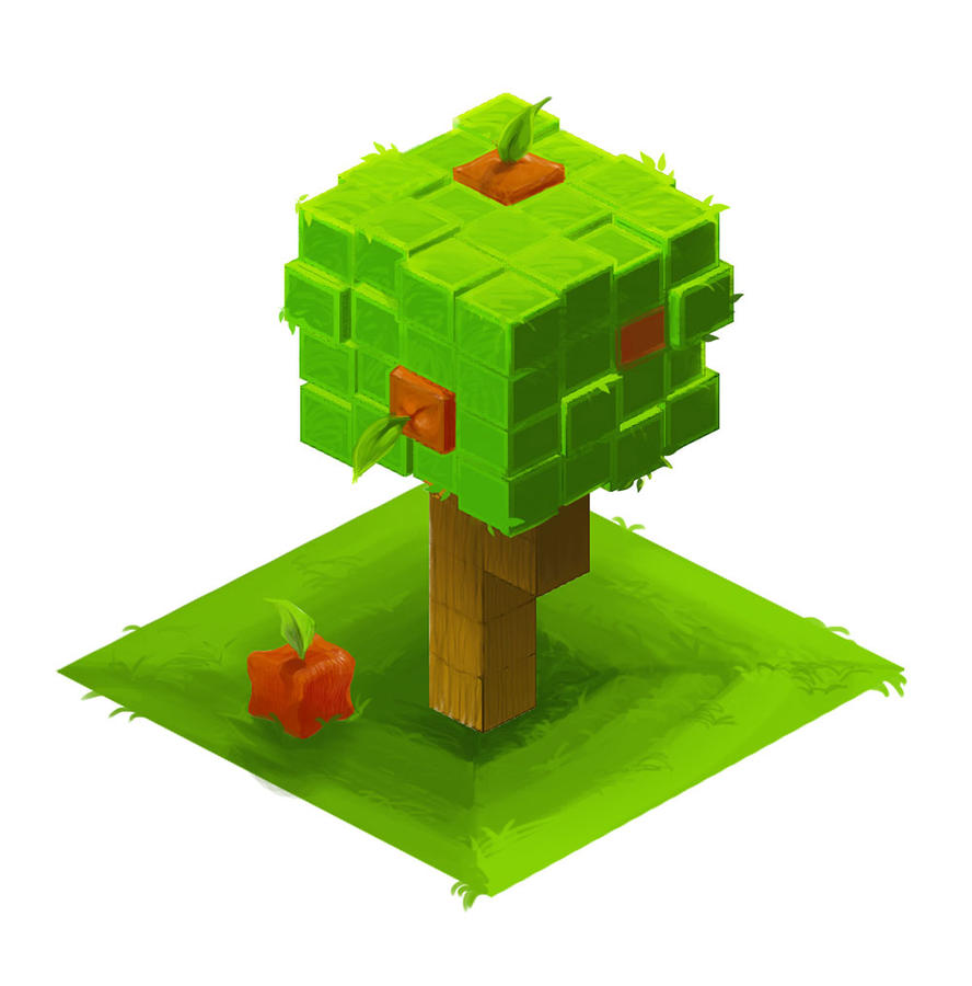 Iso tree with fruit practice by RedPaints