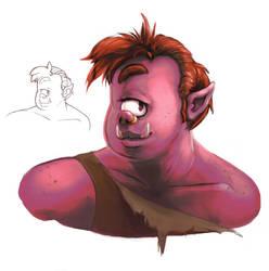 Shelzie's Cyclops character by RedPaints