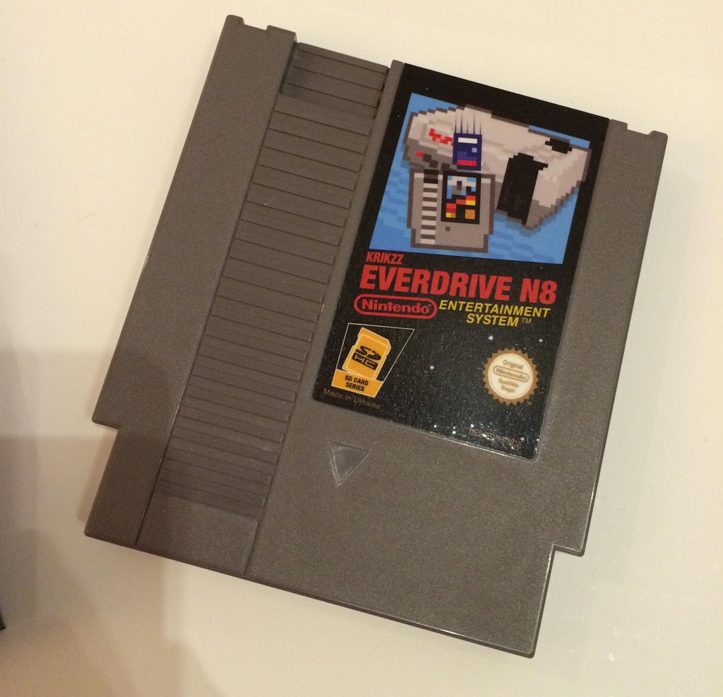 Everdrive N8 Cartridge Label by NeoRame