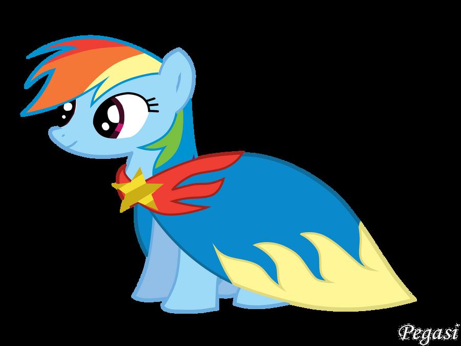 Raindow Dash With Cape by Pegasi-pony