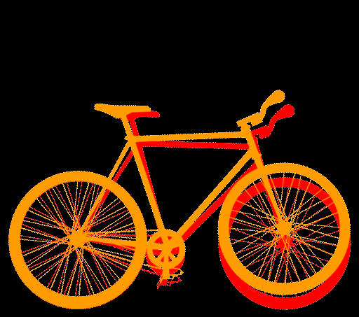 rainbow bike gif by mrcolortvjr on deviantart
