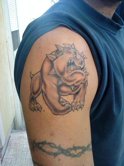 bulldog tattoo by ~realx1 on deviantART