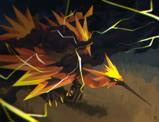 Zapdos. The storm
