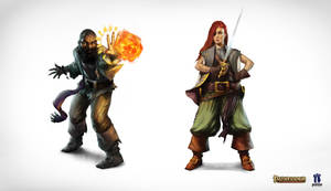 RPG character illustration - Pathfinder by tomafeizogas