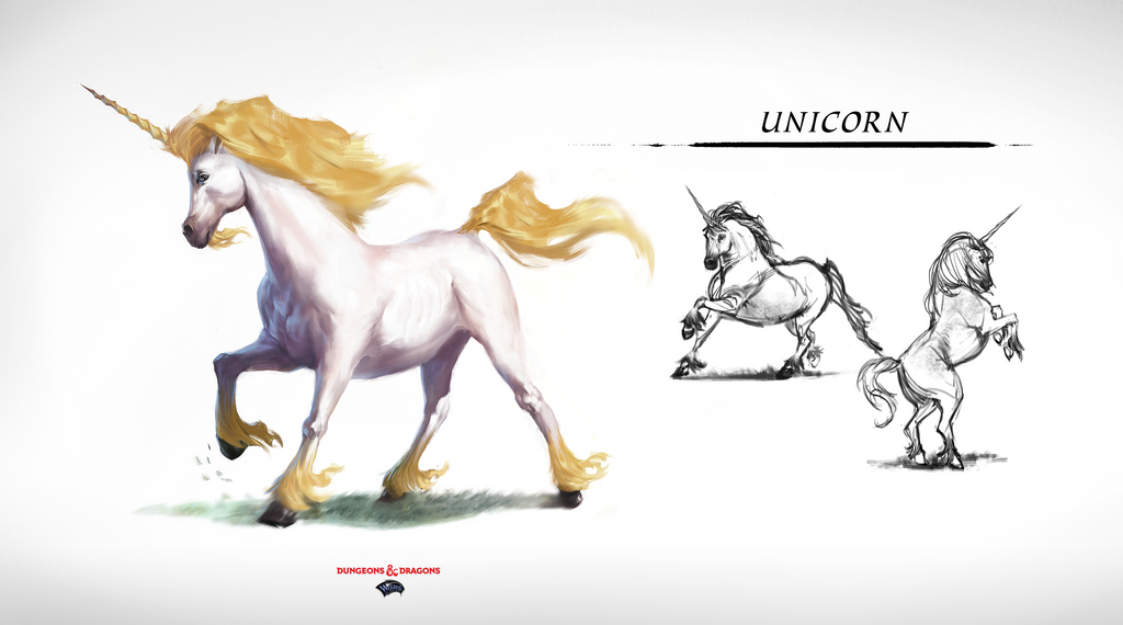 DnD - Monster Manual - Unicorn