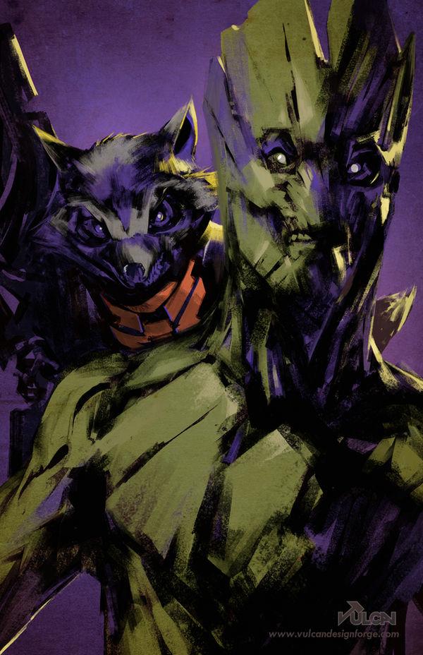 Marvel Guardians - Rocket and Groot fan art