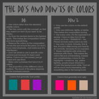 The Do's and Don'ts of Colors by fudratsrule