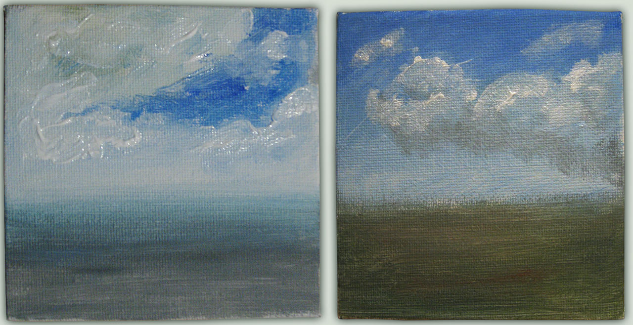 sky or heaven - mini paintings by bluemacgirl