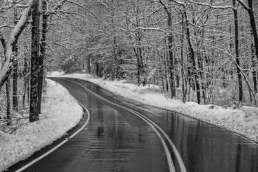 Snowy Road by jjcpix