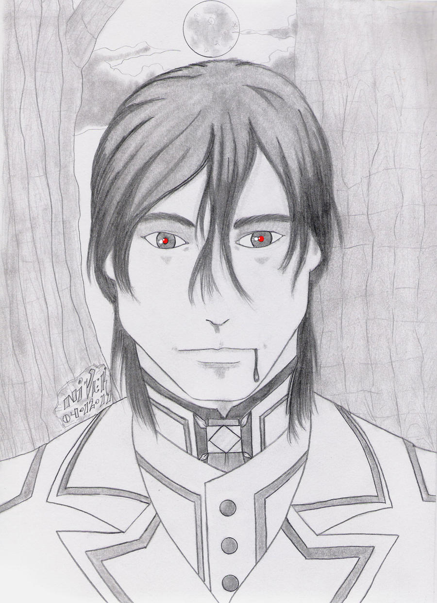 how to draw zero from vampire knight step by step