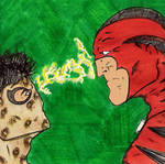 Animal Boy Vs Wildman Post-It Sketch