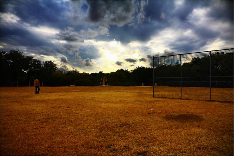 Softball Field Wallpaper Softball in an Amber Field by