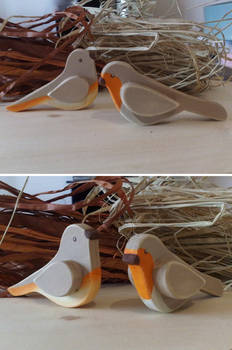 Decorative wooden birds