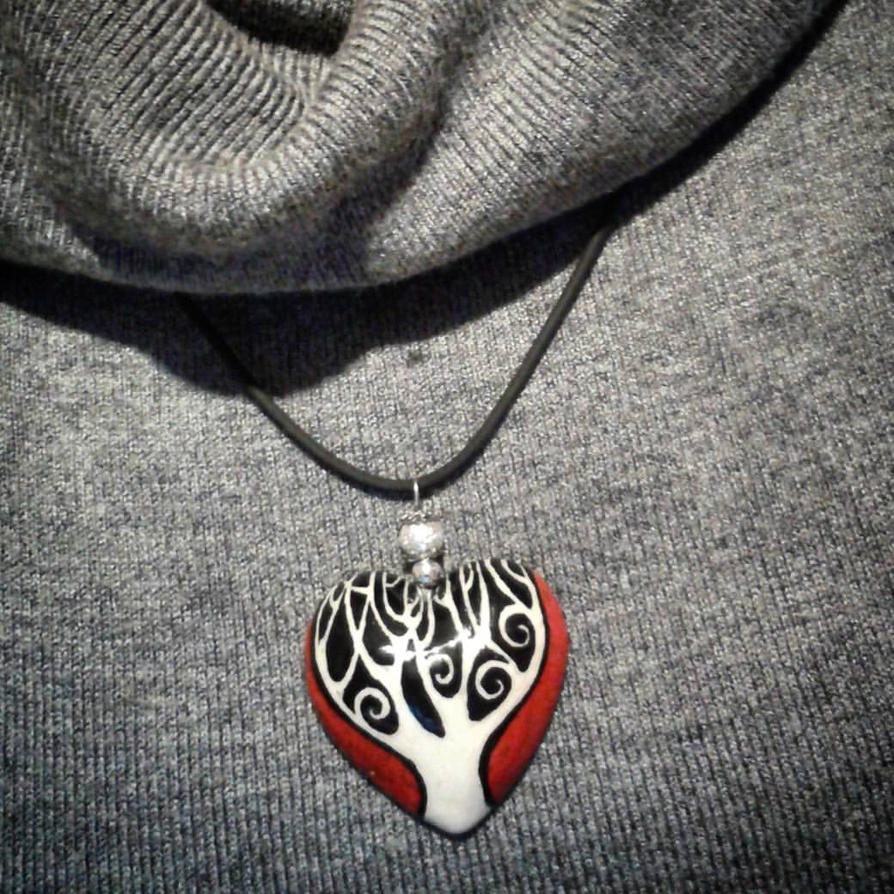 ceramic tree pendant by angychan