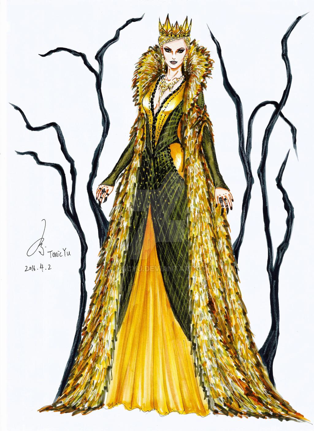 2017 fashion prints - The Evil Queen Ravenna By Toxicyu On Deviantart